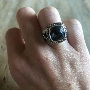 David Yurman Albion Ring - Hematite & Diamonds